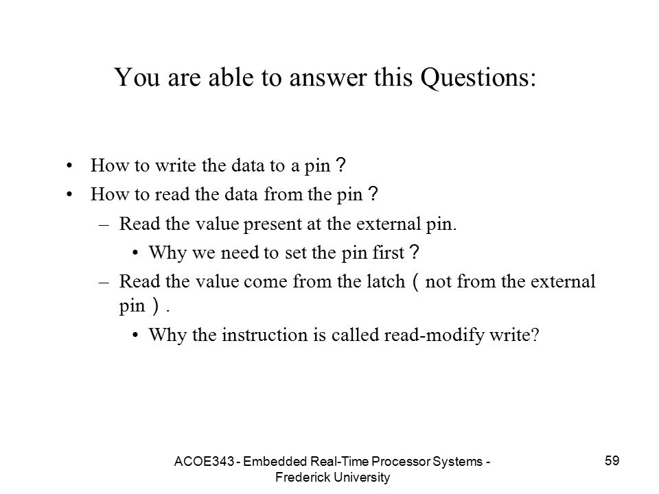You are able to answer this Questions: