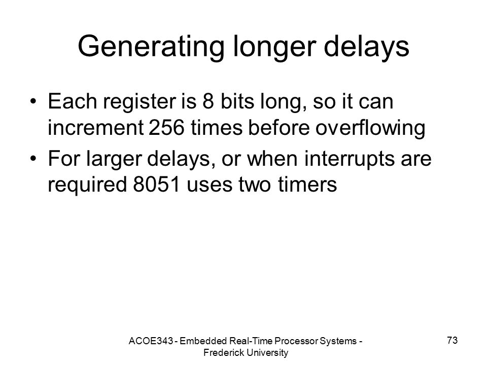 Generating longer delays