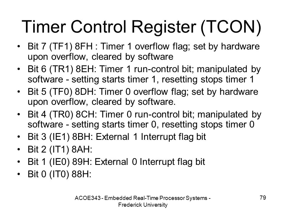 Timer Control Register (TCON)