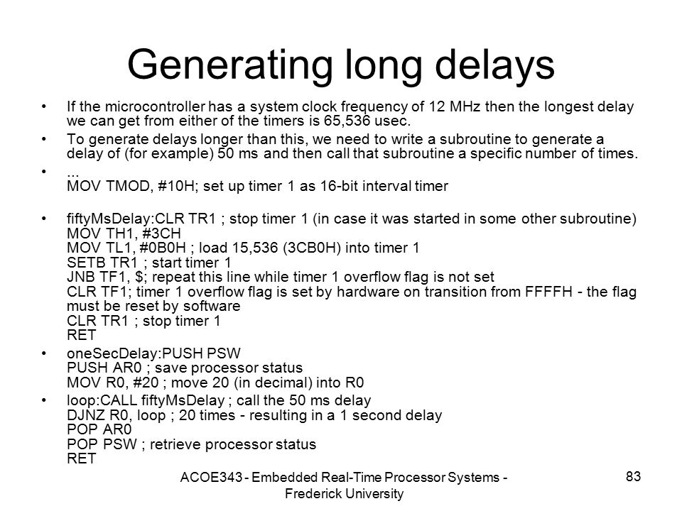 Generating long delays