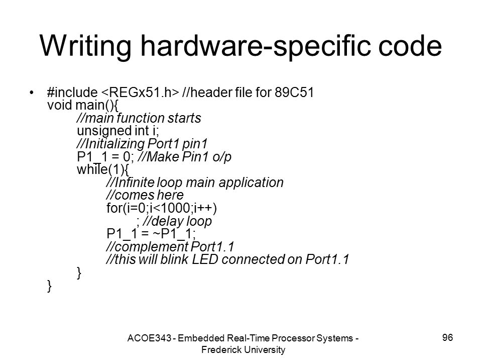Writing hardware-specific code