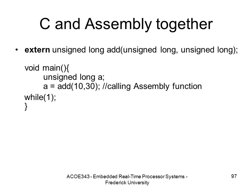 C and Assembly together