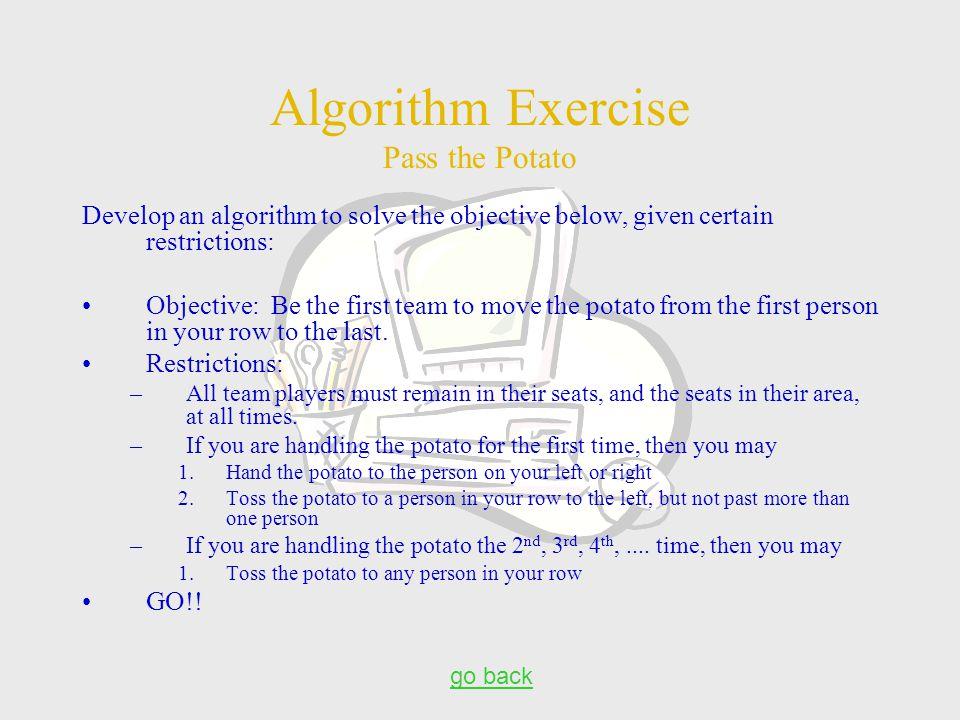 Algorithm Exercise Pass the Potato