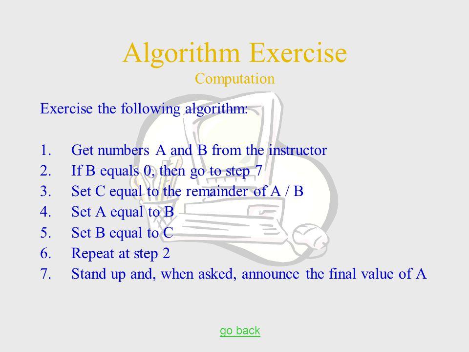 Algorithm Exercise Computation