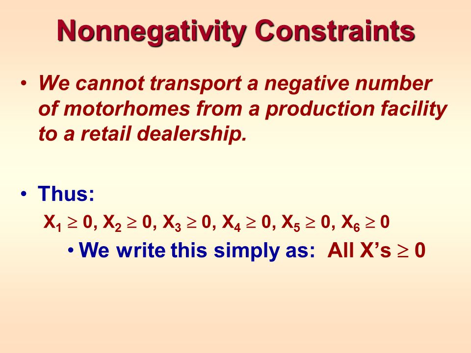 Nonnegativity Constraints