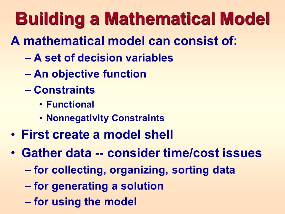 Building a Mathematical Model