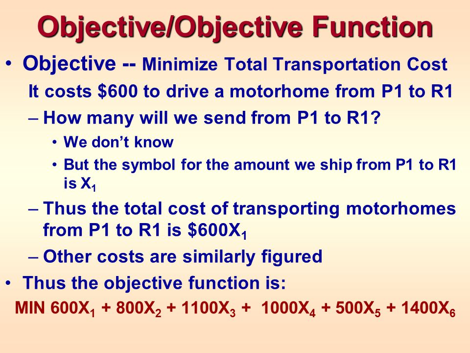Objective/Objective Function