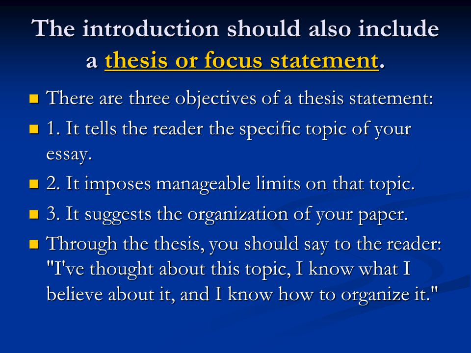 what is objectives in thesis What should a phd thesis look like dr barry witcher • objective and results a clear statement of what it is hoped to achieve through the research and.