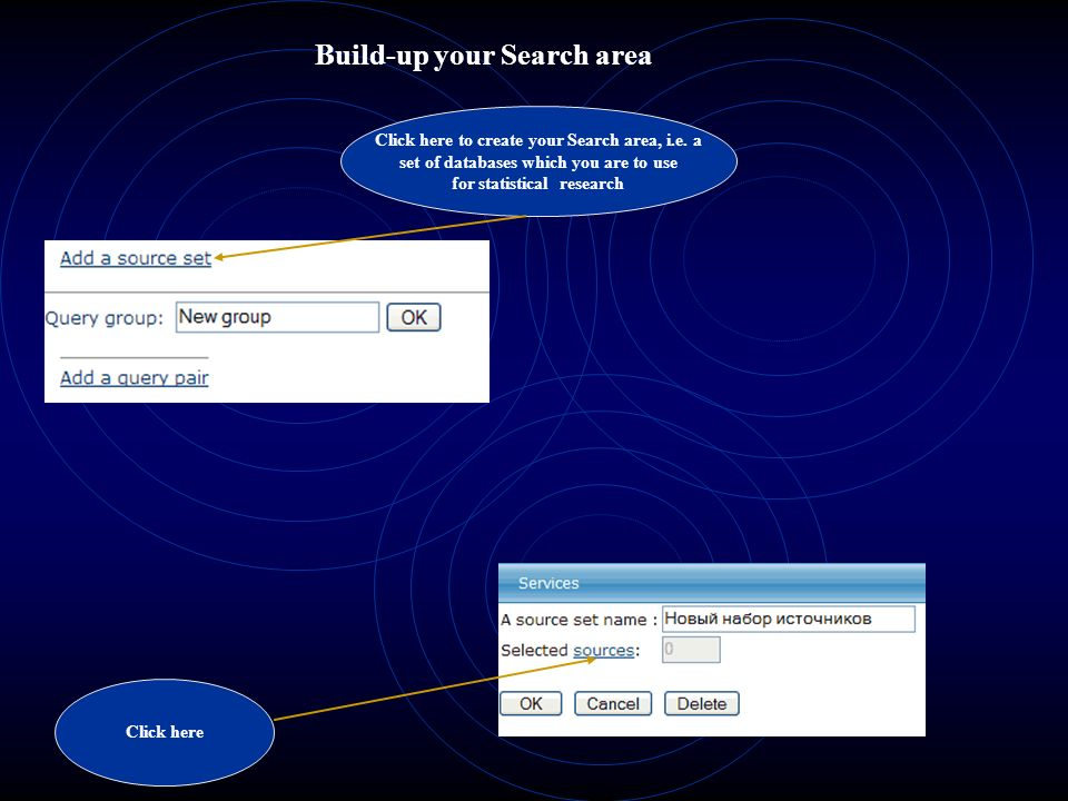 Build-up your Search area