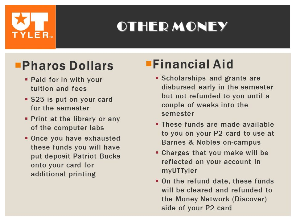 Other money Financial Aid Pharos Dollars
