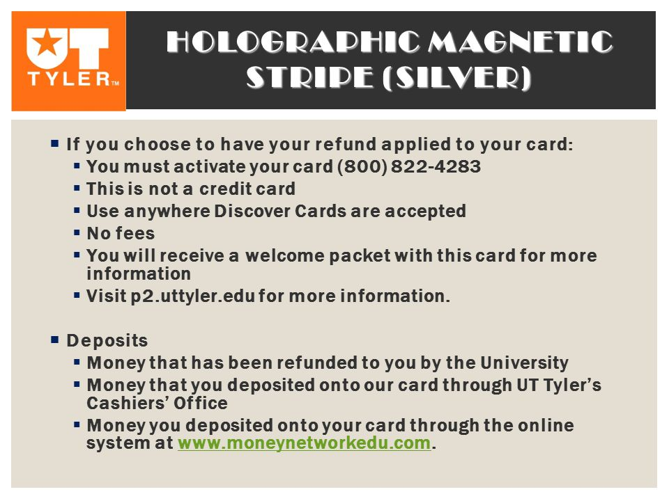 Holographic magnetic stripe (silver)