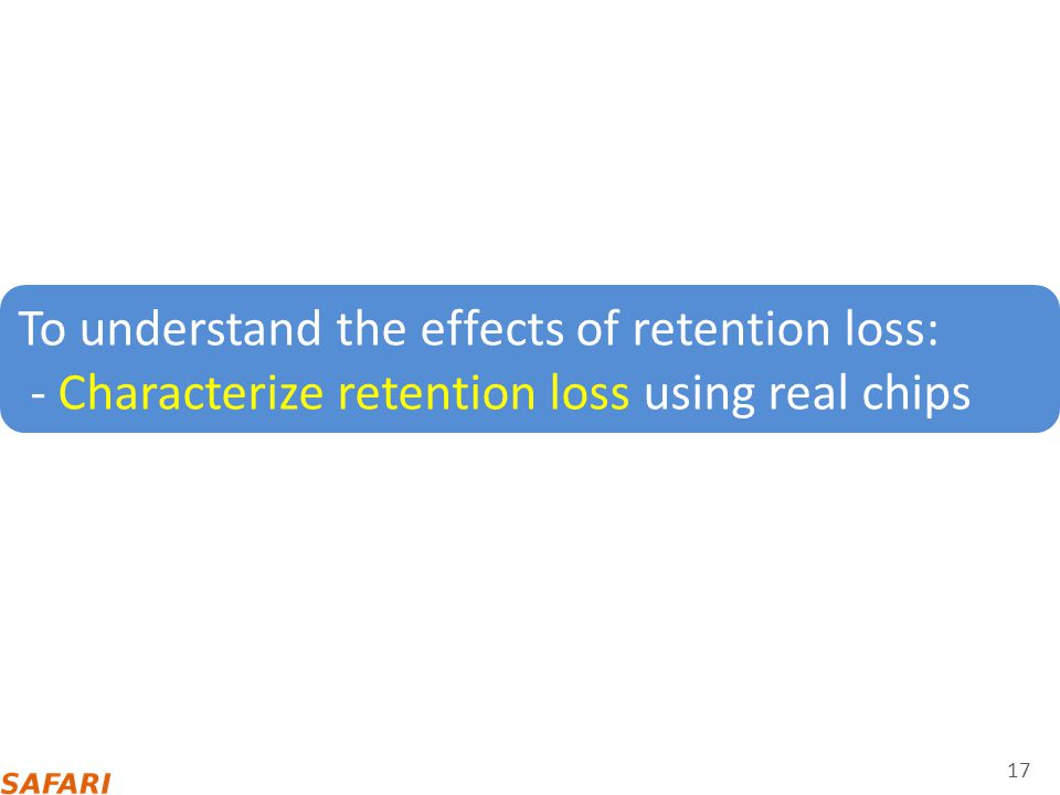 To understand the effects of retention loss:
