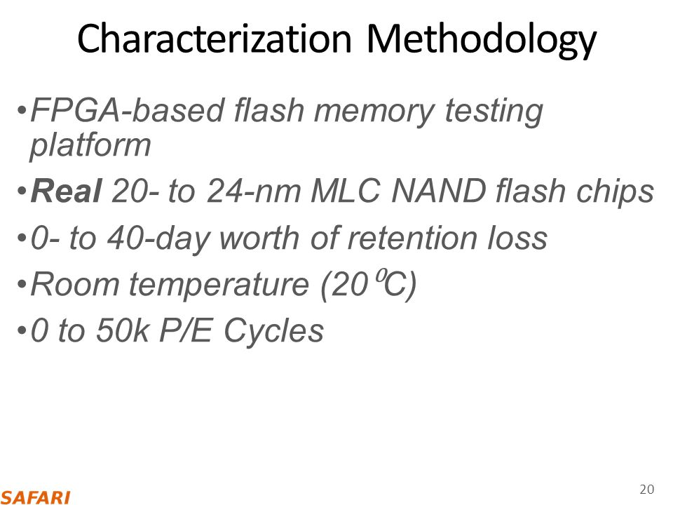Characterization Methodology