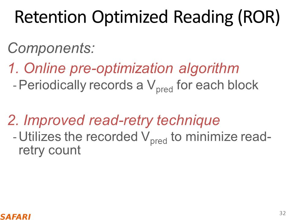 Retention Optimized Reading (ROR)