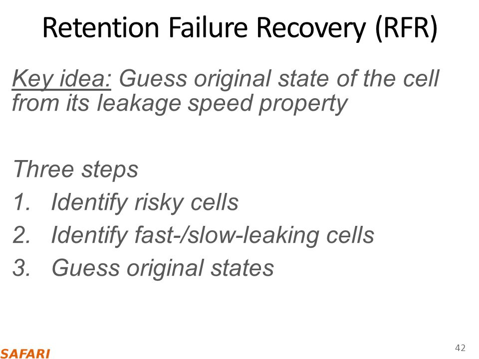 Retention Failure Recovery (RFR)