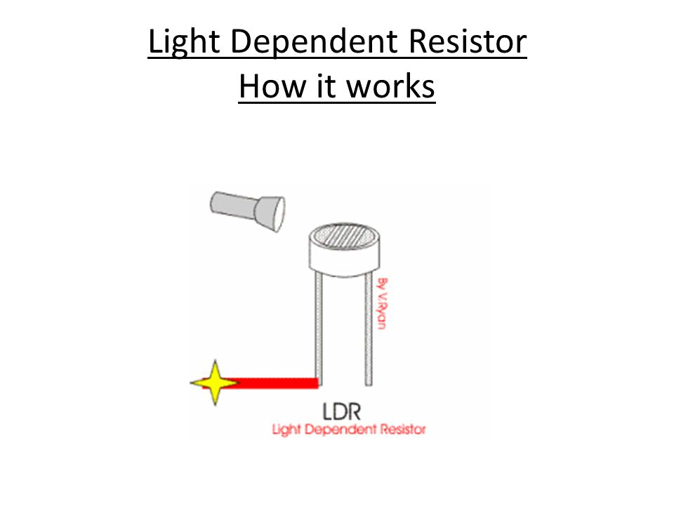 Light Dependent Resistor How it works