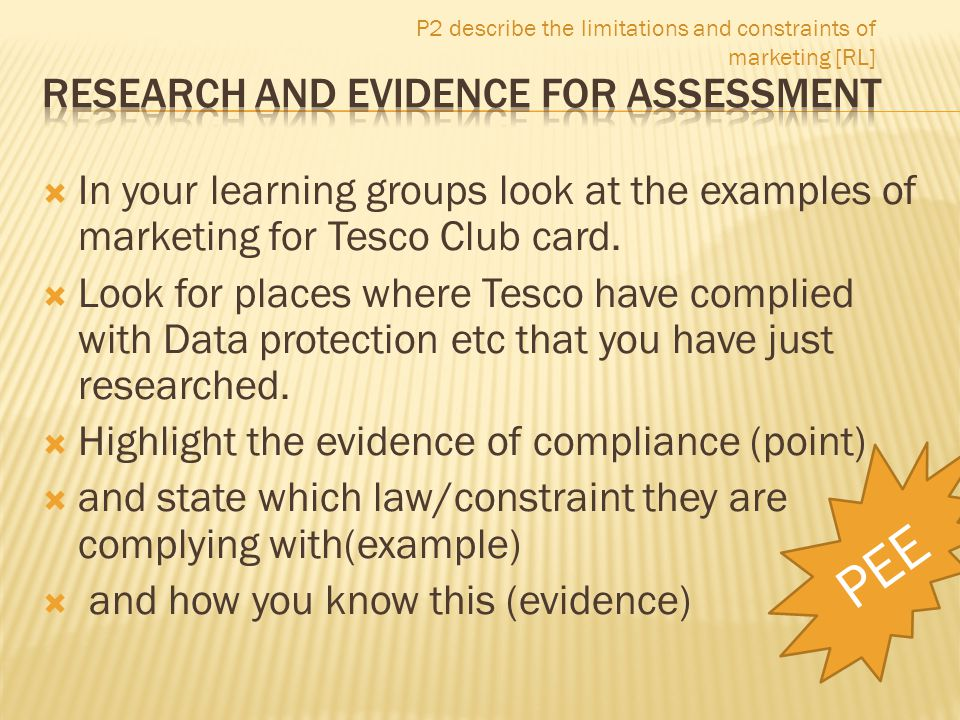 Research and Evidence for Assessment