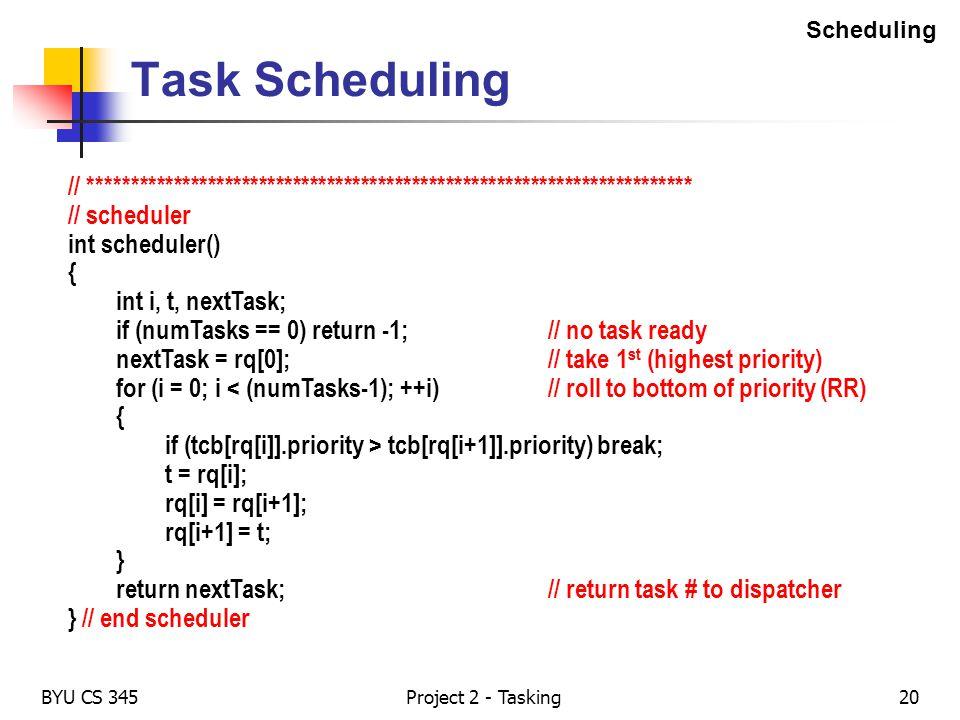 Scheduling Task Scheduling. // ***********************************************************************