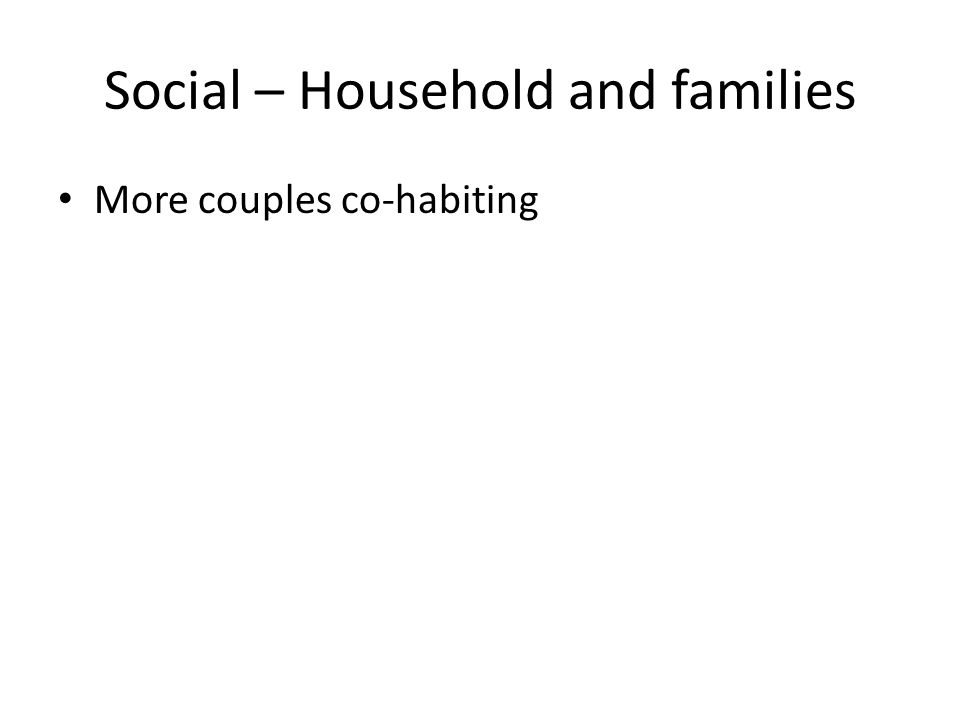 Social – Household and families