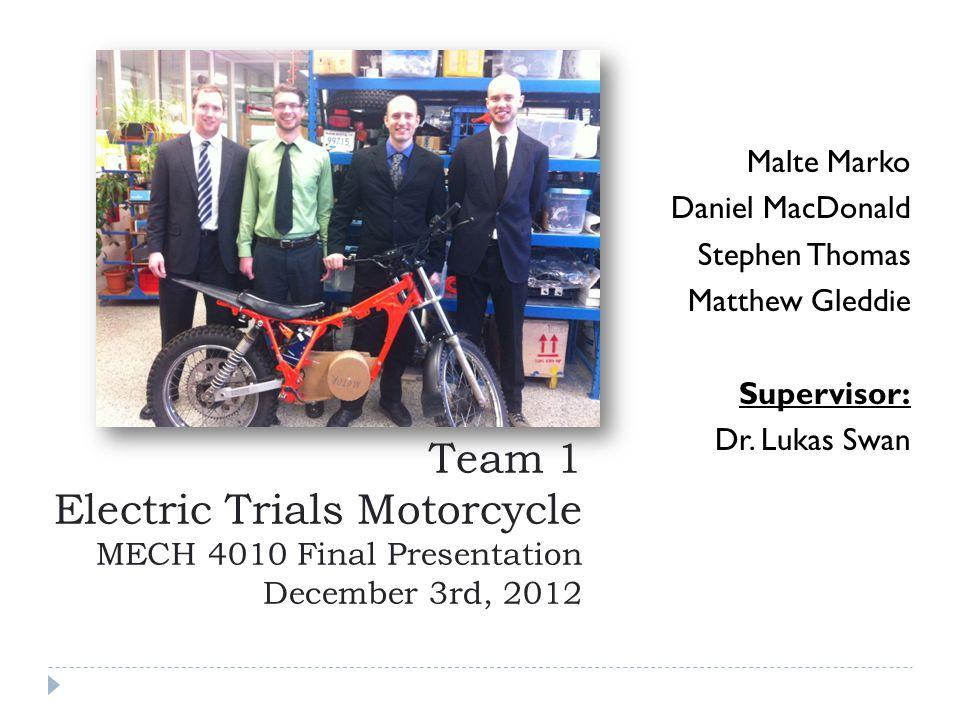 Malte Marko Daniel MacDonald. Stephen Thomas. Matthew Gleddie. Supervisor: Dr. Lukas Swan.