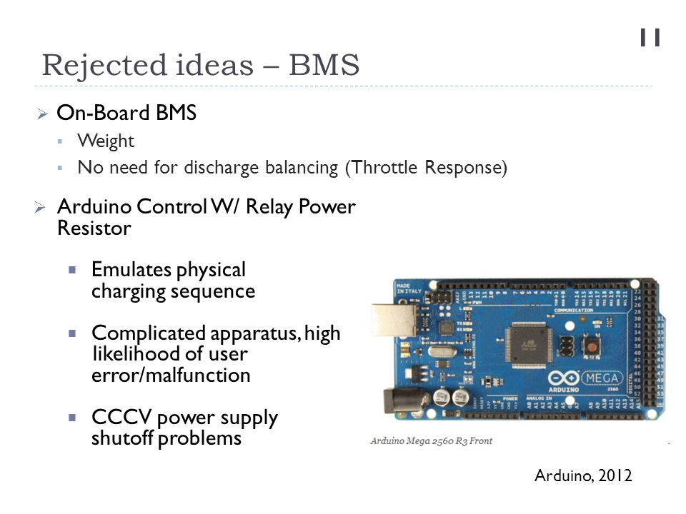Rejected ideas – BMS On-Board BMS