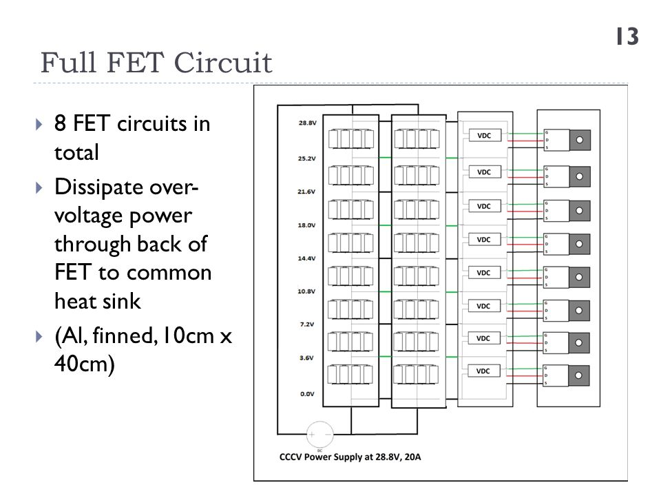Full FET Circuit 8 FET circuits in total