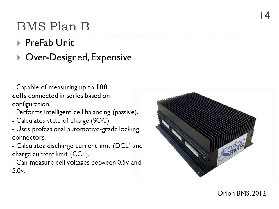BMS Plan B PreFab Unit Over-Designed, Expensive