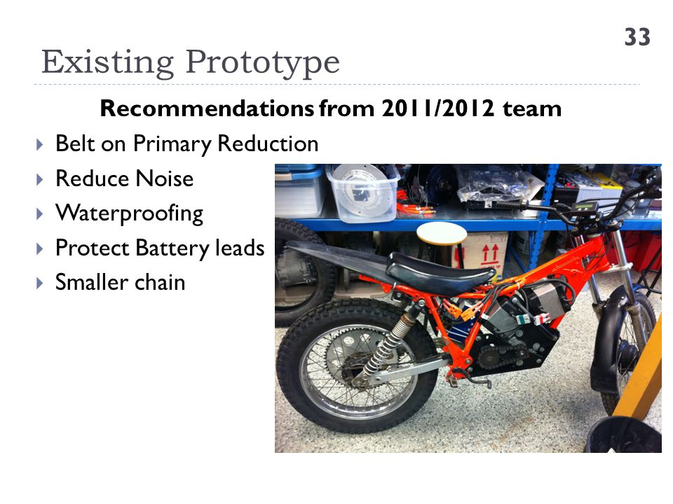 Recommendations from 2011/2012 team