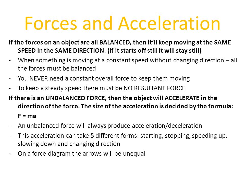 Forces and Acceleration