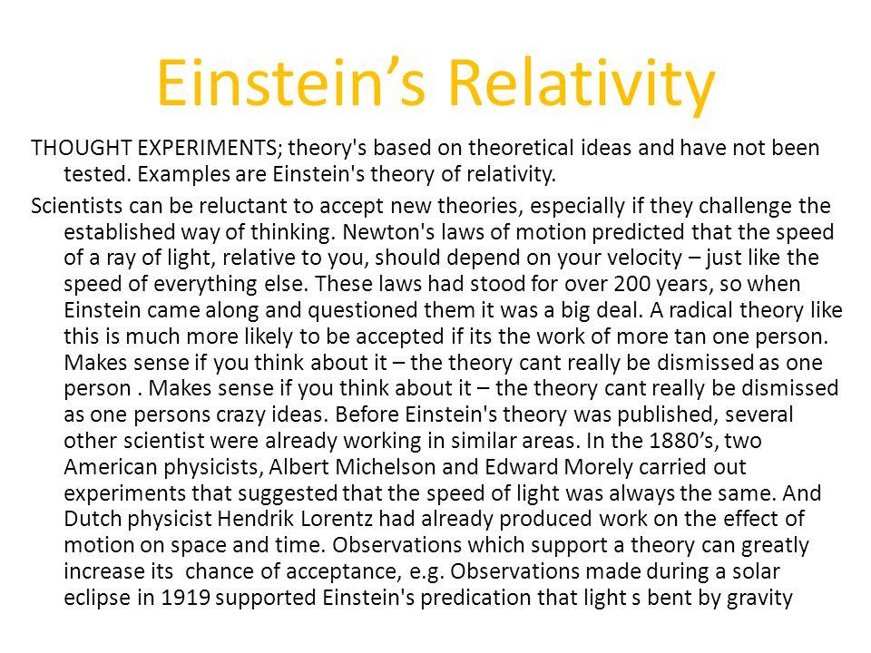 Einstein's Relativity
