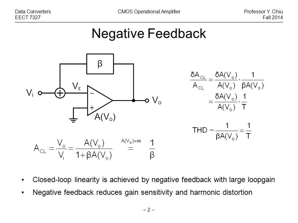 Data Converters CMOS Operational Amplifier Professor Y. Chiu