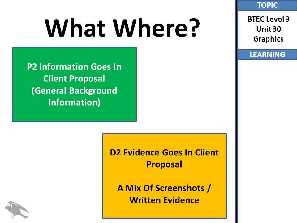 What Where P2 Information Goes In Client Proposal