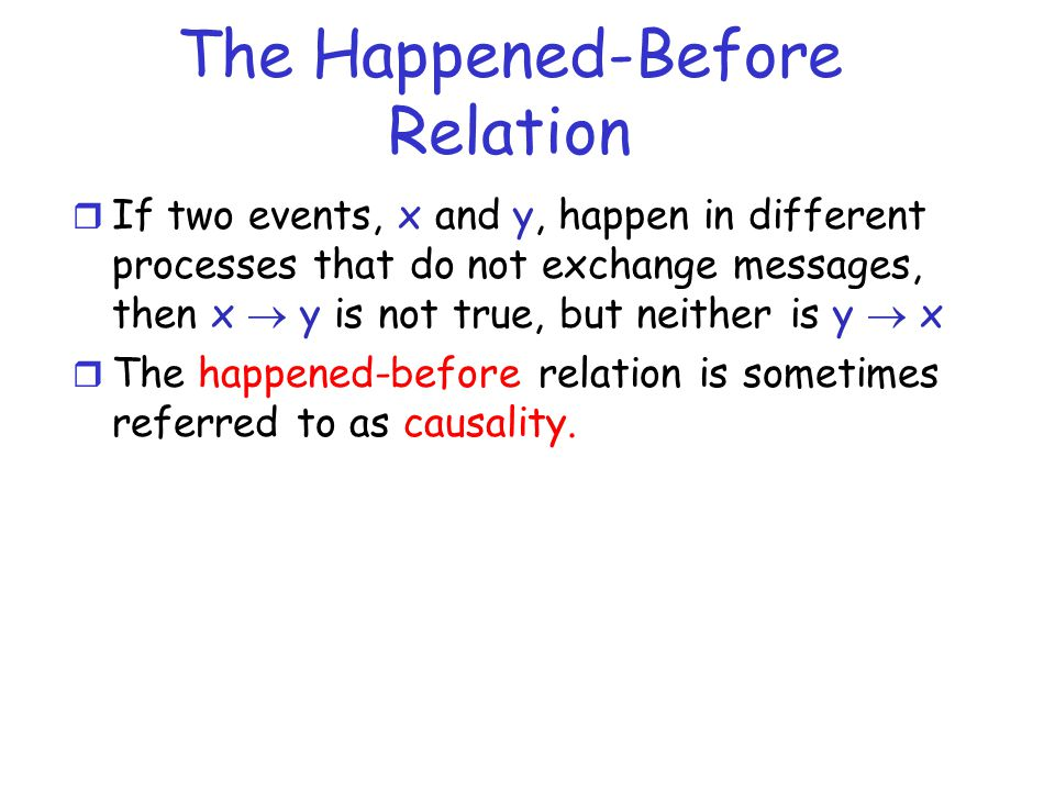 The Happened-Before Relation