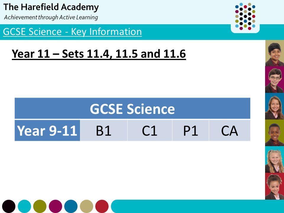GCSE Science - Key Information