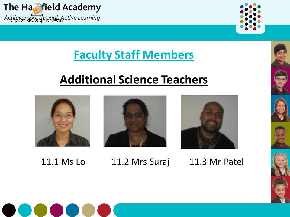 Additional Science Teachers