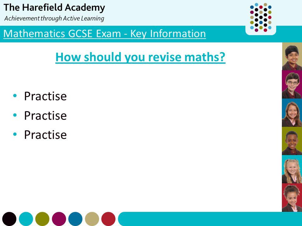 Mathematics GCSE Exam - Key Information