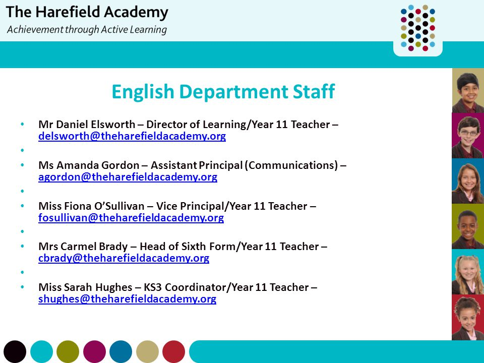 English Department Staff