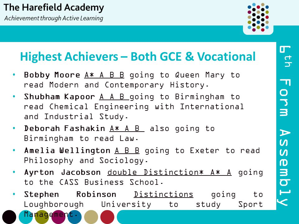 Highest Achievers – Both GCE & Vocational