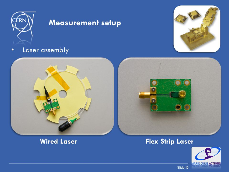 Measurement setup Laser assembly Wired Laser Flex Strip Laser