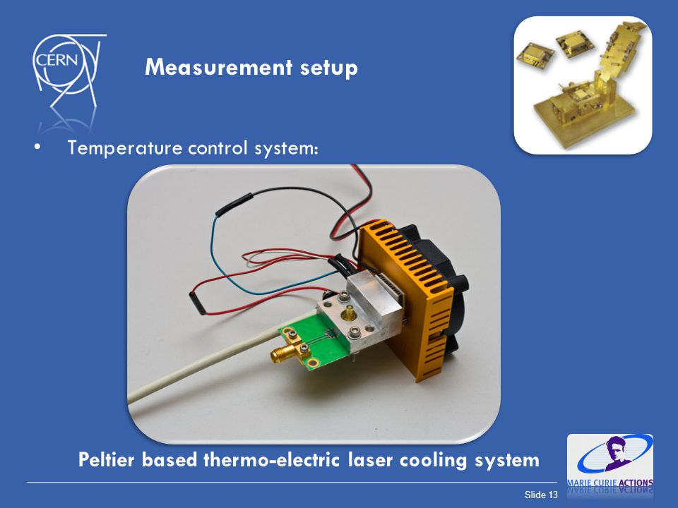 Measurement setup Temperature control system: