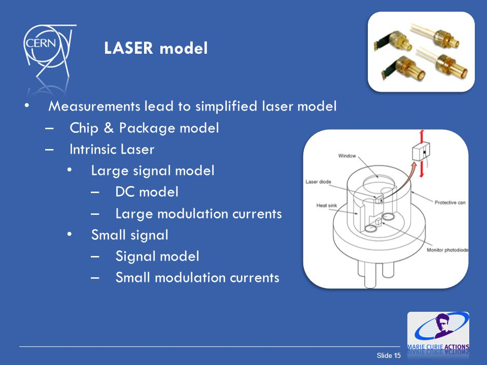 LASER model Measurements lead to simplified laser model