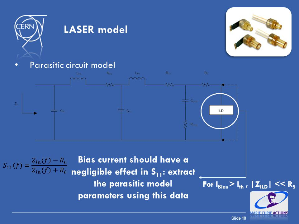 LASER model Parasitic circuit model