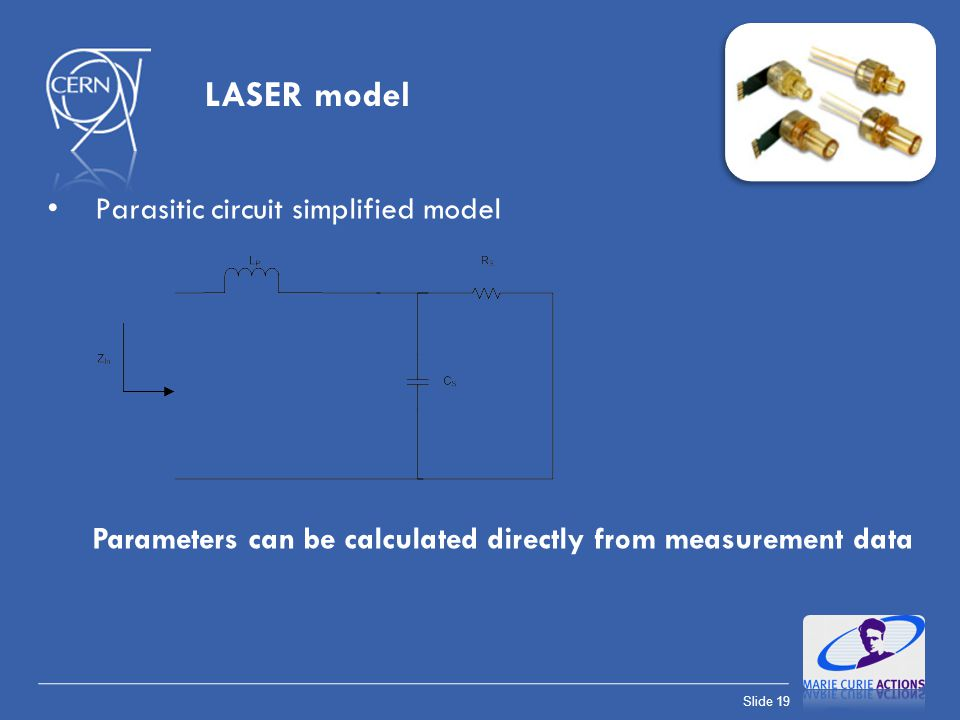 LASER model Parasitic circuit simplified model