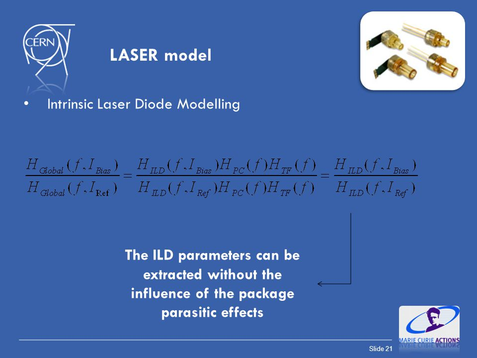 LASER model Intrinsic Laser Diode Modelling