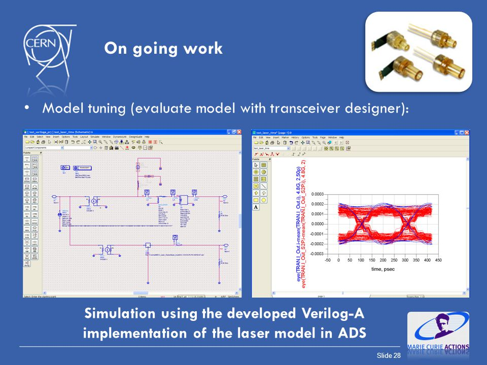 On going work Model tuning (evaluate model with transceiver designer):