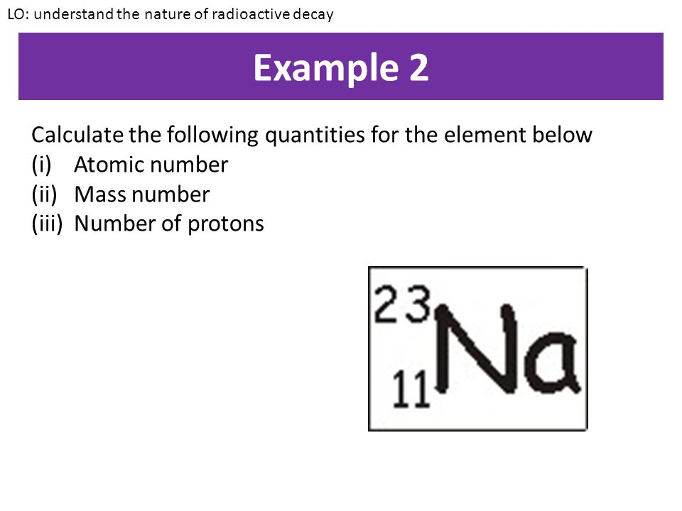 Example 2 Calculate the following quantities for the element below