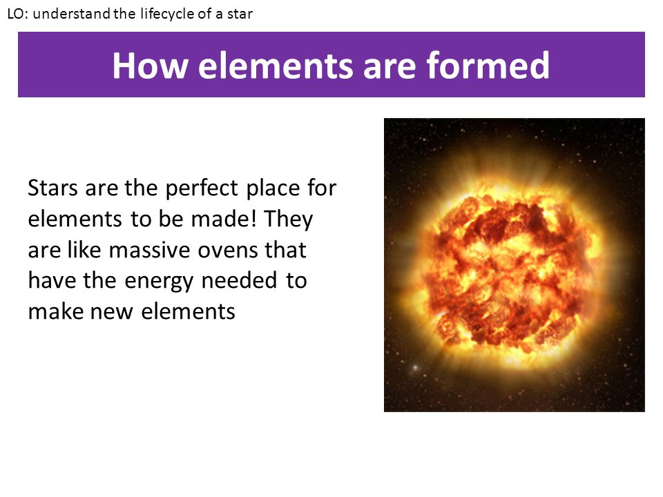 How elements are formed