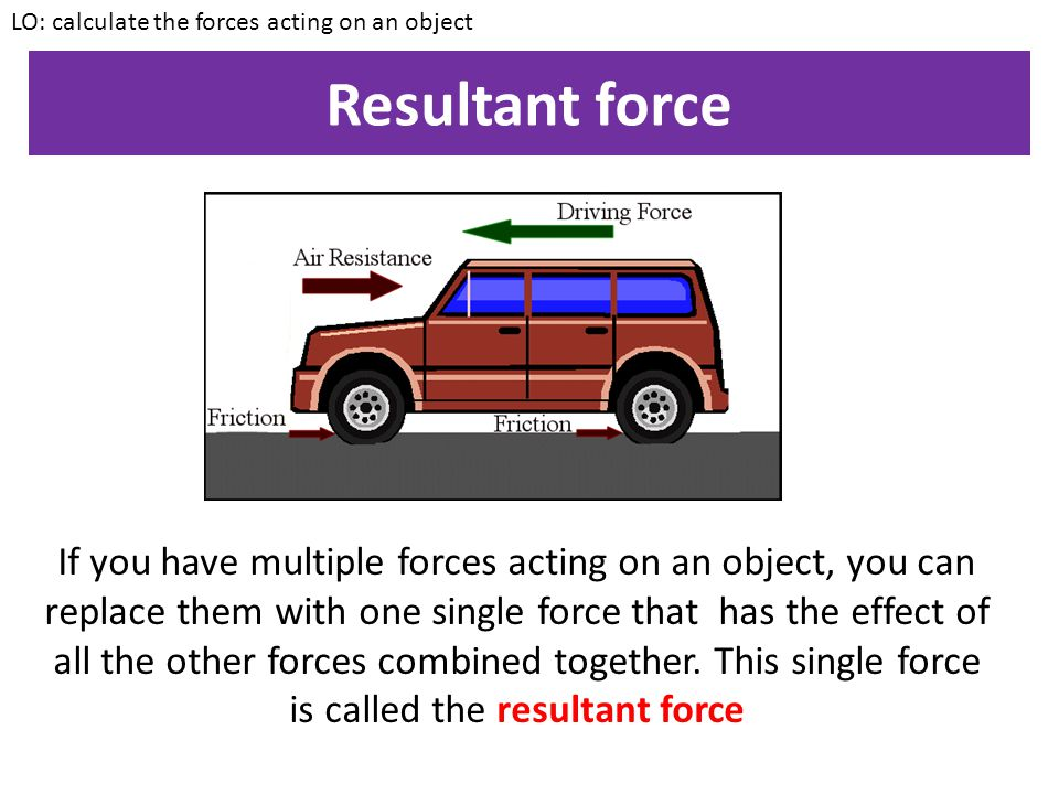 LO: calculate the forces acting on an object