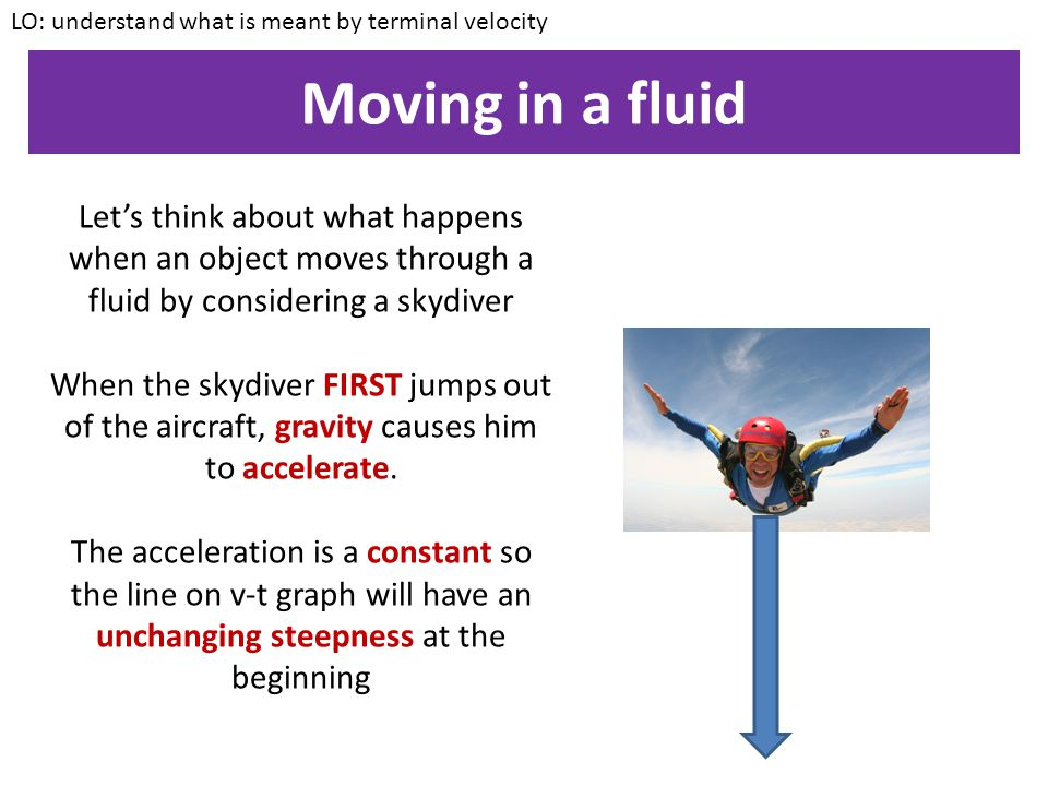 LO: understand what is meant by terminal velocity