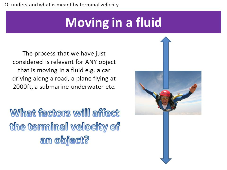 What factors will affect the terminal velocity of